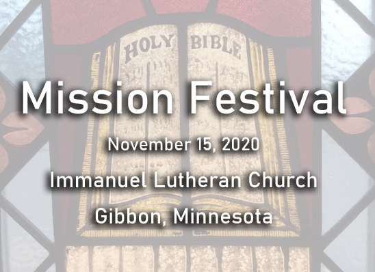 Mission Festival 2020 – The Gospel for every tribe and tongue